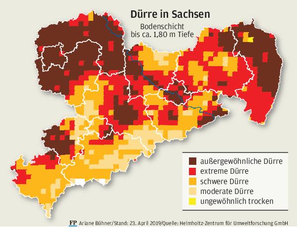 Trockenheit trifft vor allem den Norden und Osten Sachsens