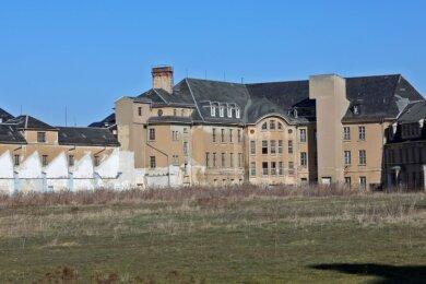 Die Palla-Gebäude sollen saniert und mit Wohnungen versehen werden. Auf der Freifläche sind Wohnhäuser geplant.