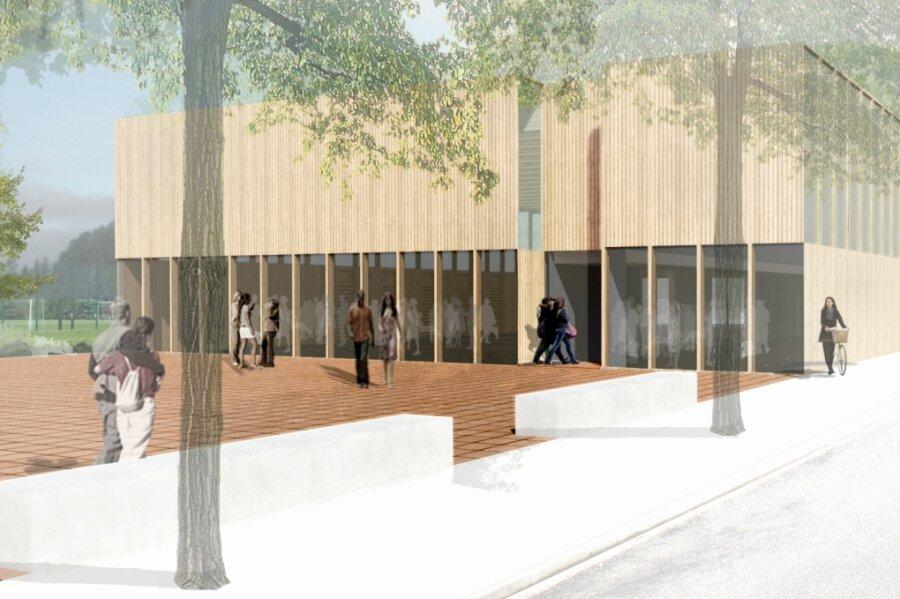 So sieht der Siegerentwurf eines Architektenwettbewerbs für den Neubau einer Zweifeldhalle in der Gemeinde Lichtenau aus. Auf dem Gelände des Bauhofes könnte sie in den nächsten Jahren errichtet werden. Der Gemeinderat hat in der jüngsten Sitzung allerdings den Zeitplan verschoben.