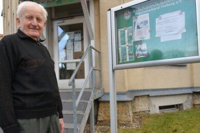 Seit vielen Jahren engagiert sich Wolfgang Butze für die Volkssolidarität und unterstützt die Einrichtung an der Külzstraße in Freiberg.
