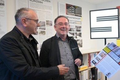 Thomas Dietrich und Jens Dietrich und Bernd Sikora (v. l.) sind die Kuratoren der Ausstellung.