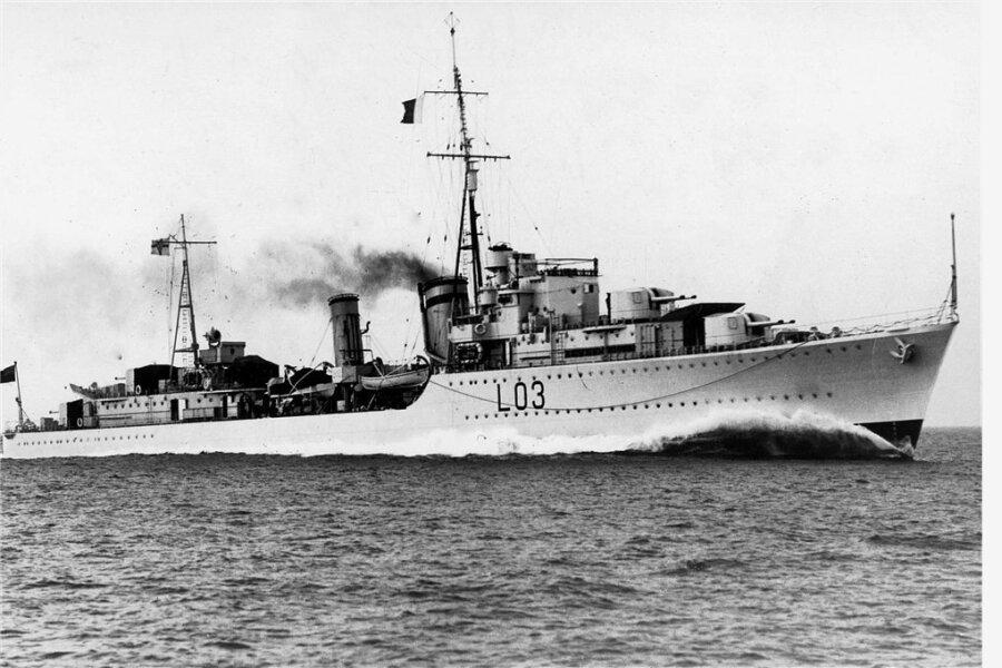 """Die """"HMS Cossack"""" soll eines der Schiffe sein, dessen Untergang Bordkater Oscar, später genannt Sam, überlebt haben soll."""