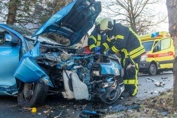 Der verunglückte Renault.