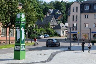 Mit einer Verkehrsberuhigung im Bereich des Oelsnitzer Marktes erhofft sich die Stadt nicht nur einen lebenswerteren Innenstadtbereich, sondern auch eine Entschärfung der Kreuzung Obere Haupt-/Albert-Funk-Schacht-Straße.