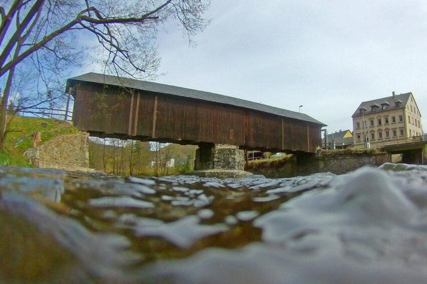 Holzbrücke in Hennersdorf