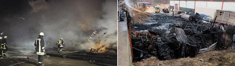 Mylau: Lagerhalle bei Textilverwerter abgebrannt