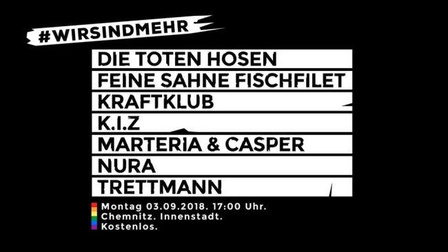 So warb die CWE 2018 für das Konzert #wirsindmehr.