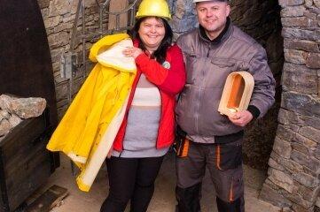 Mandy und Jens Wagner laden am Wochenende ins Bergwerk nach Deutschkatharinenberg ein.
