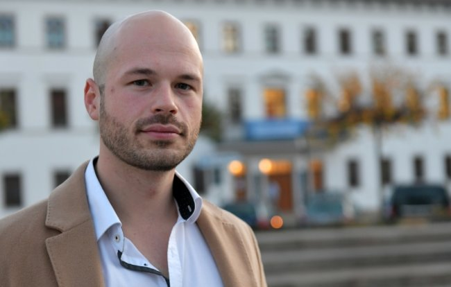 Sven Michael Willems ist seit Mitte Oktober Vorsitzender der Jungen Union in Mittelsachsen. Der 27-Jährige lebt seit fünf Jahren in Freiberg.