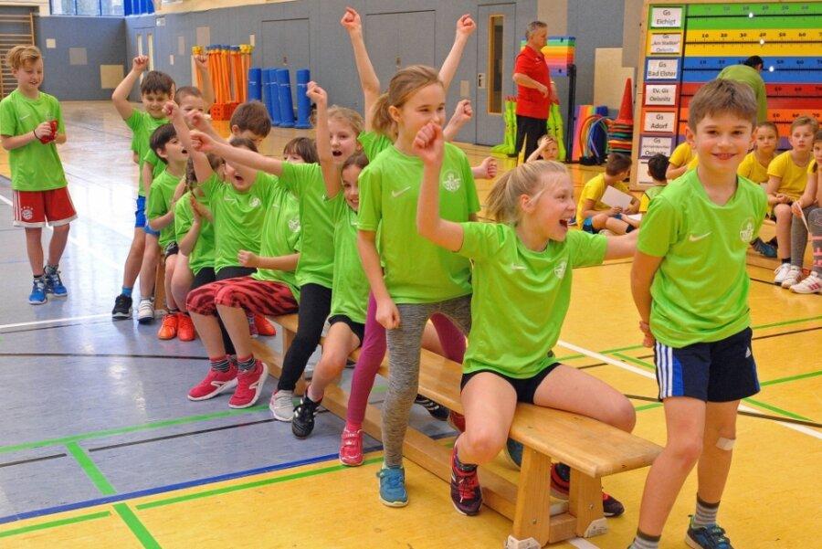 Mit Veranstaltungen wie der Risiko-Raus-Tour (im Foto 2019 in Oelsnitz) oder dem Vospi-Cup gelang es in den vergangenen Jahren, Kinder schon ab dem Vorschulalter für den Sport zu begeistern. Voriges Jahr ging da nur noch wenig, dieses Jahr gar nichts mehr. Das bekommen die Sportvereine zu spüren.