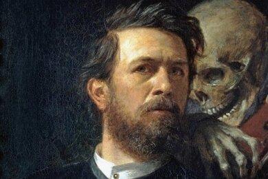 """Der Tod hat Arnold Böcklin oft begleitet - in seinem eigenen Leben wie auch in seinem künstlerischen Schaffen. Das zeigt auch das """"Selbstbildnis mit fiedelndem Tod"""" von 1872."""