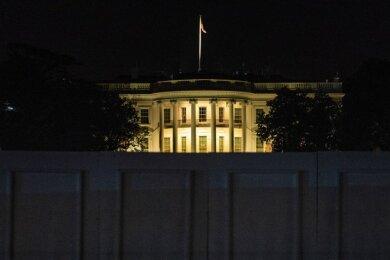 Das Weiße Haus während der US-Wahlnacht.