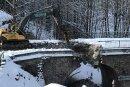 Die alte Rechenhausbrücke bei Bockau wird abgerissen.