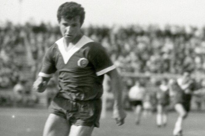 Gotthard Zölfl in Aktion. Das Foto stammt aus einem Junioren-Länderspiel im Jahre 1969.