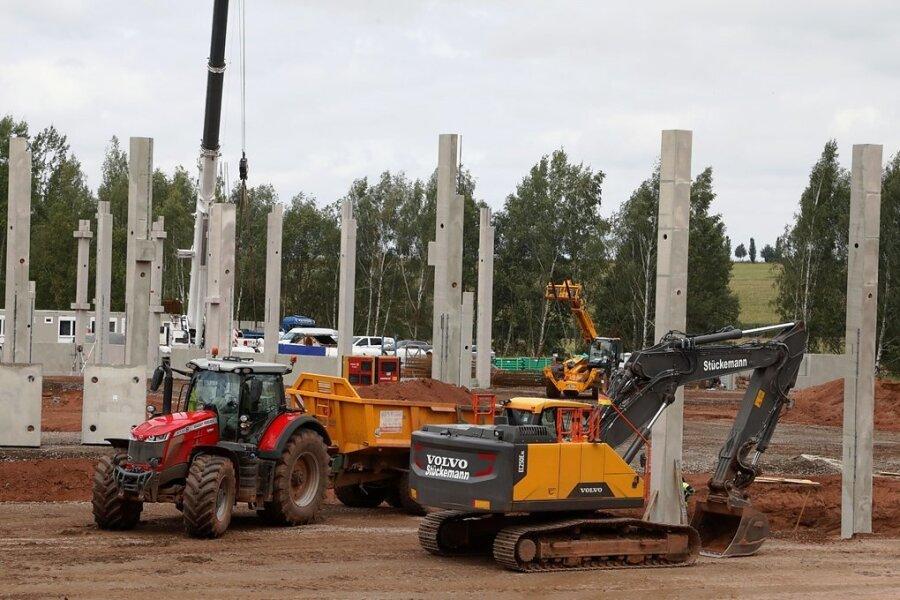 Bauarbeiten für Logistikfirma in Härtensdorf vollem Gange
