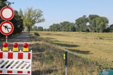 Das Südufer an der Flutrinne ist gesperrt.