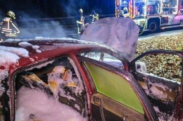 Am VW entstand Totalschaden.