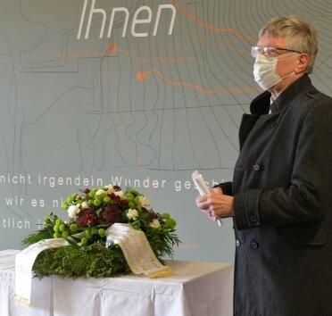 Jörg Höllmüller, zweiter Stellvertreter von Landrates Matthias Damm, erinnerte an das Schicksal der KZ-Insassen von Freiberg.