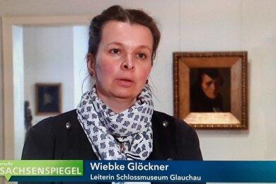"""Als """"Leiterin Schlossmuseum Glauchau"""" wurde Wiebke Glöckner den TV-Zuschauern vorgestellt."""