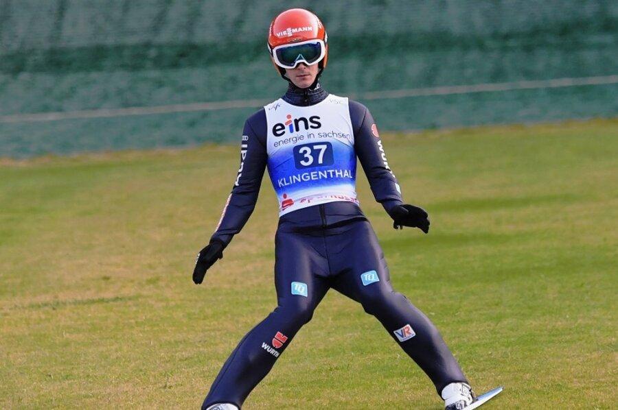 Aller Anfang ist schwer: Stephan Leyhe landete in der Qualifikation beim Sommer-Grand-Prix auf Rang 39.