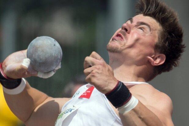 David Storl kämpfte und wollte unbedingt weiter stoßen, doch dabei verkrampfte er. Seinen sechsten Titel gewann der Chemnitzer trotzdem souverän.