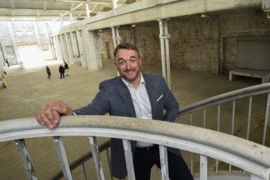 Millionenprojekt mit Industriegeschichte: Investor Udo Pfeifer will in der mehr als 150 Jahre alten Hartmann-Fabrikhalle Büros errichten.