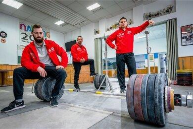 Coach Petr Hrubý trainiert mit seinen beiden Assen Raphael Friedrich (l.) und Kurt Perthel weiter intensiv.