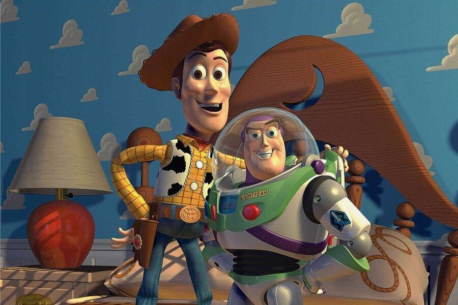 """Woody (links) und Buzz Lightyear aus """"Toy Story"""" waren die ersten Kino-Stars aus dem Computer."""