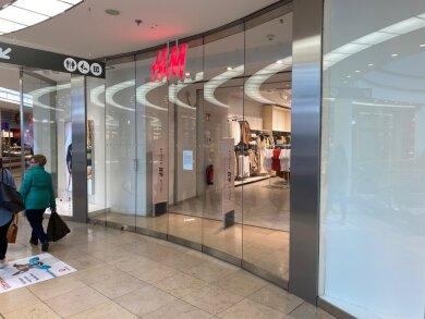 Der Laden der Modekette H & M in den Zwickau Arcaden hatte bereits am Mittwochnachmittag geschlossen.