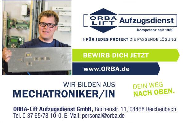 Anzeige: ORBA-Lift-Aufzugsdienst GmbH