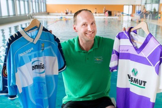 Der neue Arbeitsplatz des ehemaligen FCE- und CFC-Profis Jan Schmidt ist die Schwimmhalle am Zeller Berg in Aue.