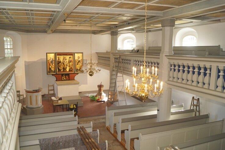 Der Innenraum der Kirche zu St. Johannis Enthauptung erstrahlt schöner denn je.