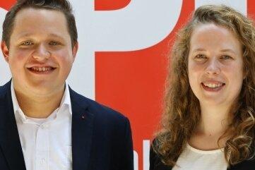 Felix Beyer aus Glauchau und die Lichtensteinerin Antje Junghans bilden das neue Führungsduo der SPD im Kreis Zwickau.