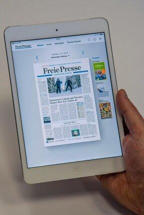 """Jetzt deutlich früher bei Ihnen: das """"Freie Presse""""-E-Paper."""