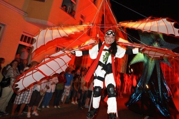 Darsteller des Helmnot-Theaters 2010 während der 500-Jahrfeier von Hohenstein-Ernstthal.