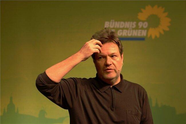 Wo geht es lang in Sachsen? Robert Habeck, Vorsitzender der Bündnisgrünen, stellte sich im Plauener Malzhaus den Fragen des Publikums.