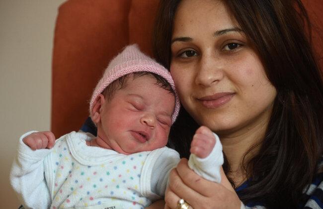Die kleine Talaa erblickte um 2.22 Uhr im städtischen Klinikum das Licht der Welt. Ihre Mutter Maisaa Mordia ist 23 Jahre.