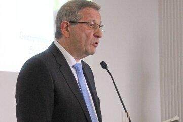 Im November 2013 zog Erich FritzBilanz zum Abschluss der Altlastensanierung in der Freiberger Region.