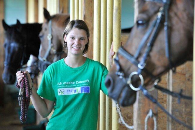 """<p class=""""artikelinhalt"""">Während ihrer Zeit in Sachsen hat Hobbyreiterin Ann-Berit Kerker noch viel über Pferde gelernt. </p>"""
