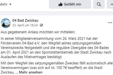 Laut Facebook-Seite des 04-Bads ist der Zwist mit dem Sportstättenbetrieb längst beigelegt. Der Vereinschef hingegen widerspricht.