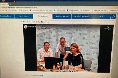 Das Regensburger Landratsamt hat ein Virtuelles Bürgerbüro. Bildschirmfoto: Heike Hubricht