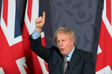 Durchbruch: Der britische Premier Boris Johnson erklärt nach der Einigung in den Brexit-Verhandlungen vor Journalisten in der Downing Street die Details.