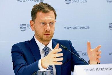 Zeigt sich auch beim Thema Gendern als diskussionsfreudig: Sachsens Ministerpräsident Michael Kretschmer.