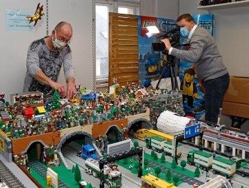 Von der Legoausstellung in Glauchau gibt es in diesem Jahr nur Video-Clips zu sehen.