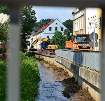 Ende August wurde in diesem Jahr das Bachbett im Bereich der Talstraße ausgebaggert. Dies war laut Bauhof lange geplant.