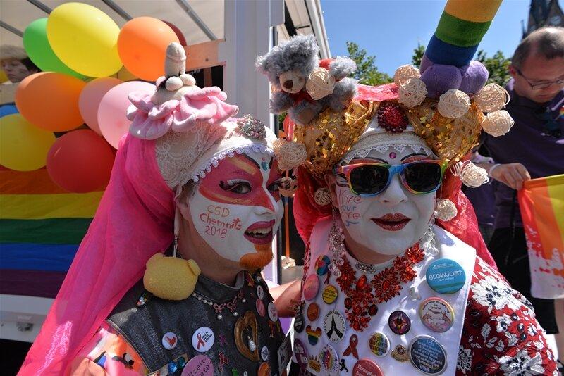 Parade für Vielfalt - Christopher-Street-Day in Chemnitz