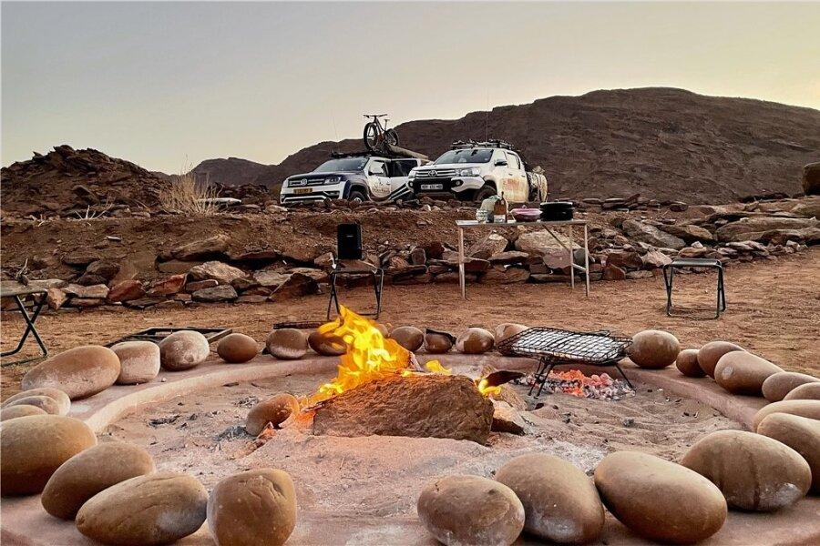 Freiheit! Auf einem Outdoor-Trip in Namibia begegnet man kilometerlang niemandem.