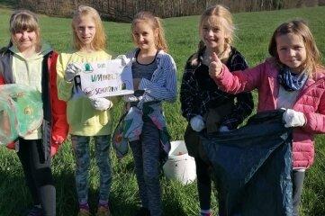 Die Schülerinnen der Grundschule Blankenhain engagieren sich für die Umwelt.