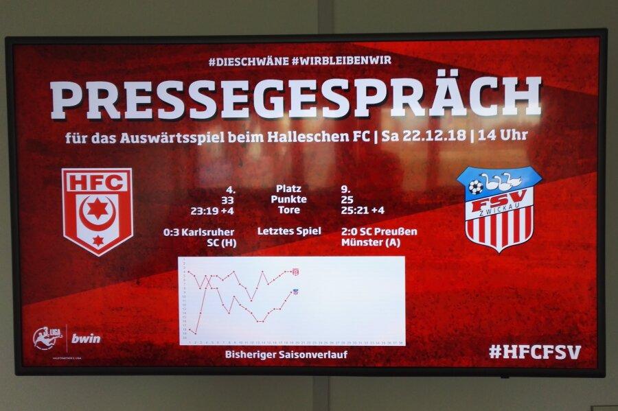 FSV Zwickau will in Halle punkten