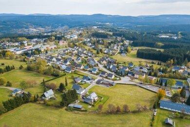 """Im Wohngebiet """"Schanzenblick"""" sind viele neue Eigenheime entstanden. Alle Bauplätze sind heute vergeben."""